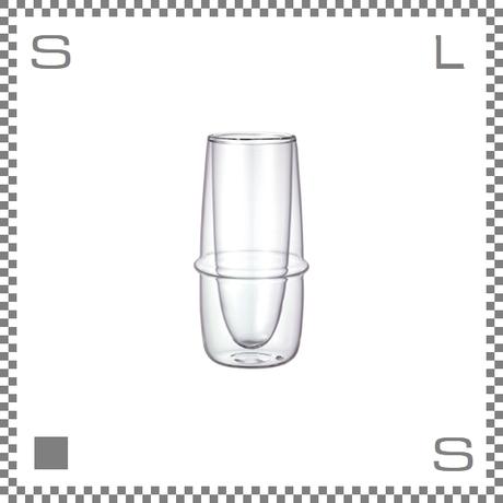 KINTO キントー KRONOS ダブルウォール シャンパングラス 160ml 耐熱ガラス製