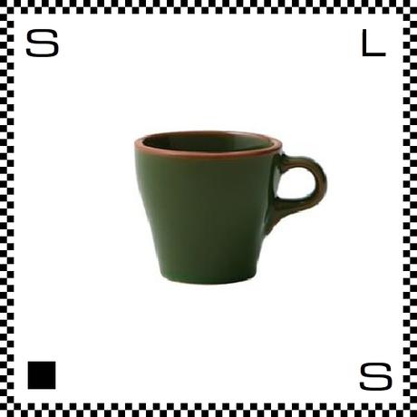Prato プラート カプチーノカップ 6oz ヴェルデ グリーン Φ83/W106/H76mm 180cc コーヒーカップ テラコッタイメージ 日本製