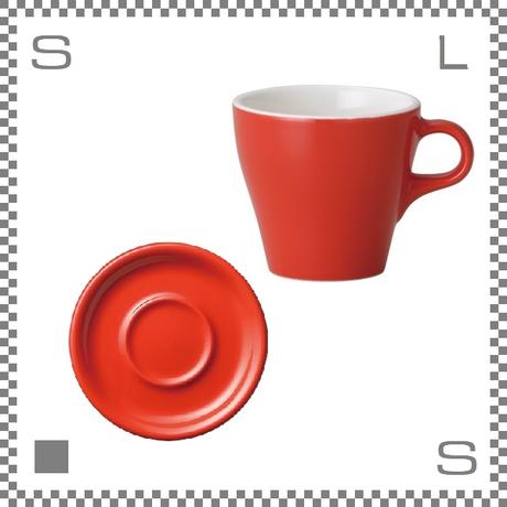 ORIGAMI オリガミ カプチーノカップ&ソーサー レッド 6oz 180cc コーヒーカップ&ソーサー バリスタが設計 日本製