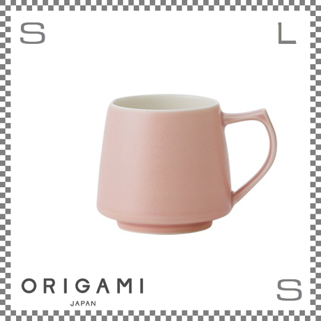 ORIGAMI オリガミ アロママグ マットピンク Φ90/W115/H82mm 320cc コーヒーカップ バリスタが設計 日本製
