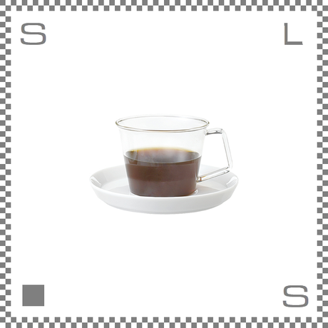 KINTO キントー CAST キャスト コーヒーカップ&磁器ソーサー 220ml 耐熱ガラス製カップ