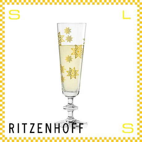 RITZENHOFF リッツェンホフ シャンパングラス 100ml スパークル シーガー・デザイン Φ60/H210mm フルートグラス スター ギフト  ritz-3520007