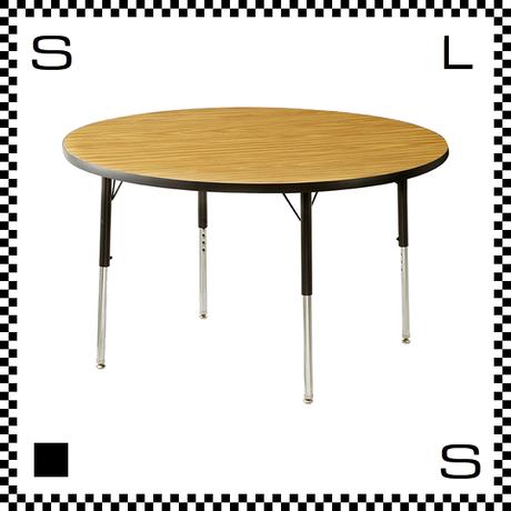 ヴァルコ ラウンドテーブル Mサイズ オーク 直径1220mm VIRCO社 高さ調節可能 ユニバーサルデザイン  TR-4275-OK