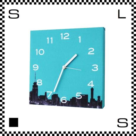 Color meets City ブルー W30/D2/H30cm ウォールクロック 壁掛け時計 スイープクオーツ使用 日本製
