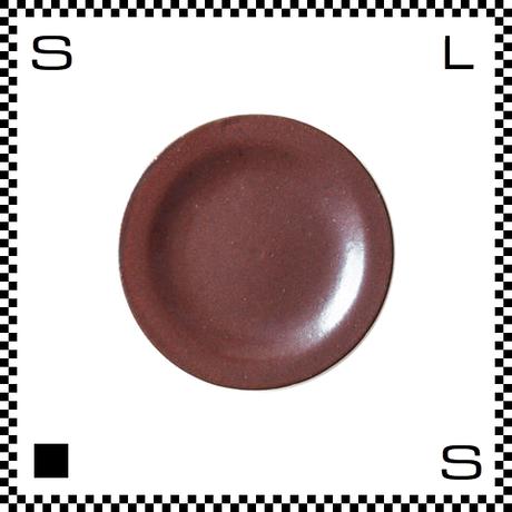 信楽焼 TETUAKA 鉄赤 中皿 Φ150/H10mm リム付き ラウンドプレート日本製