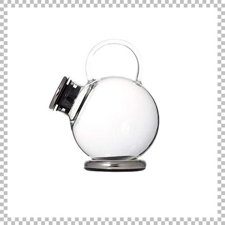 SNOWTOP TEA series スノウトップ ティーポット プラチナ 500ml W145/D110/H140mm 耐熱ガラス製 蓋・スタンド・ストレナー付き