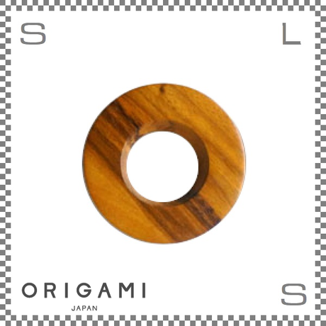 ORIGAMI オリガミ ドリッパーホルダー S/Mサイズ兼用 ダークブラウン 外径120mm ブリューワーホルダー 木製
