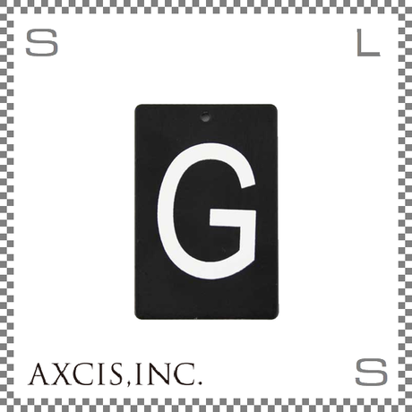 """AXCIS アクシス アイアンプレート """"G"""" W40/D2/H60mm アルファベットプレート スチール製 アイアンネームプレートホルダー用 hs2564"""