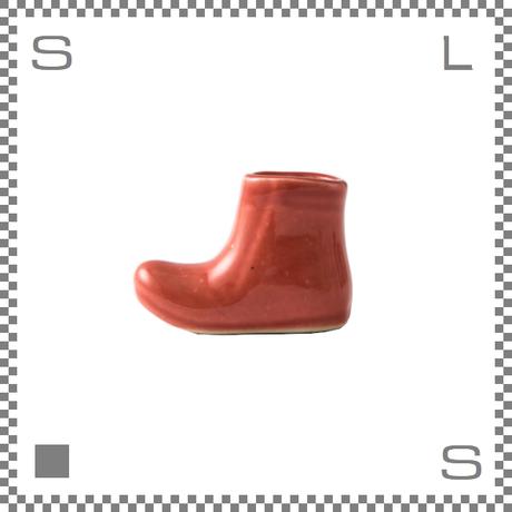 aiyu アイユー 一輪はしおき ブーツ レッド W4.3/H3.3cm 箸置き チョップスティックレスト 波佐見焼 日本製