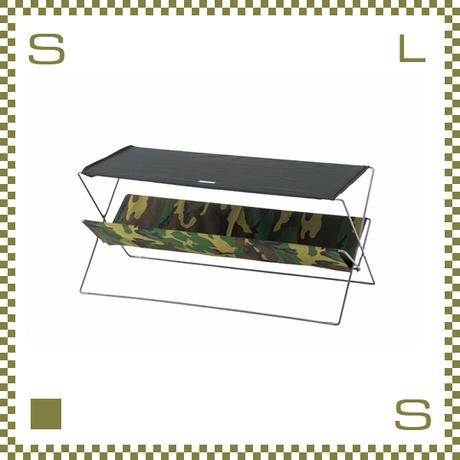 フォールディングテーブル カモフラージュ W50/D41/H42cm 折り畳み ローテーブル ミリタリー風 アウトドア azu-mip95cm