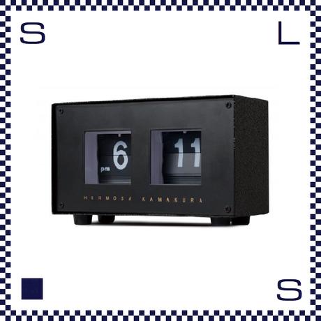 HERMOSA ハモサ PIVOT CLOCK ピボットクロック ブラック めくり式 パタパタクロック レトロデザイン