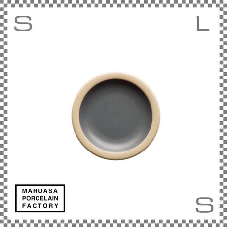 丸朝製陶所 %PORCELAINS ポーセリンズ プレート SSサイズ マットグレー Φ131/H20mm 日本製