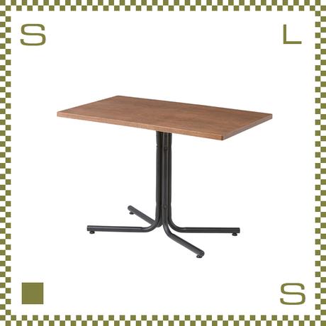 カフェテーブル レクタングル ブラウン W100/D60/H67cm 1本脚テーブル シンプルナチュラル 北欧デザイン azu-end224tbr