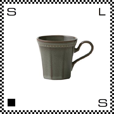 Coline コリーヌ コーヒーカップ エタン グレー Φ82/W115/H81mm 200cc オクタゴン 八角形 クラシックデザイン 日本製