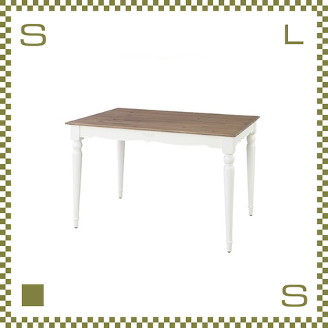ダイニングテーブル フレンチクラシック風 W120/D80/H72cm テーブル azu-pm862
