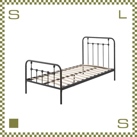 ベッド シングルサイズ ブラックフレーム W202/D98/H105/SH29.5cm ヨーロッパデザイン 組立必要 azu-b30sbk