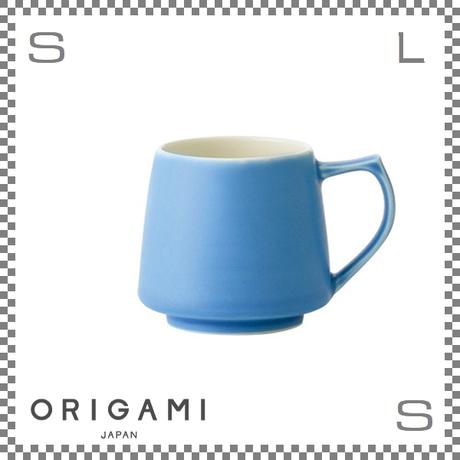 ORIGAMI オリガミ アロママグ マットブルー Φ90/W115/H82mm 320cc コーヒーカップ バリスタが設計 日本製