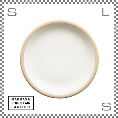 丸朝製陶所 %PORCELAINS ポーセリンズ プレート Mサイズ マットホワイト Φ201/H26mm 日本製