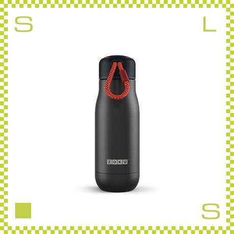 ZOKU ゾク ステンレスボトル 350ml ブラック ダブルウォール ストラップ付 魔法瓶 水筒 携帯ボトル