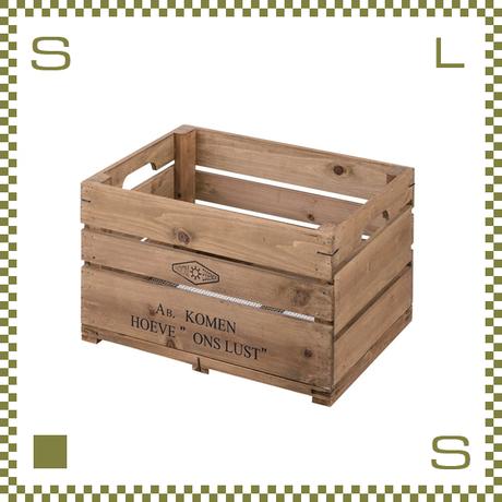 ウッドボックス ハーフ W50/D37/H28cm 持ち手付き ベジタブルボックス風 底:金網 植木鉢利用可 azu-lfs476