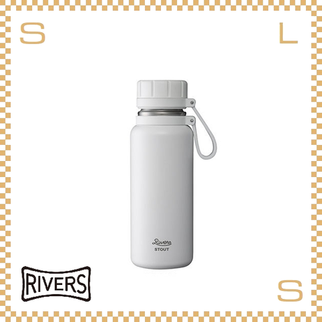 RIVERS リバーズ バキュームフラスク スタウト 500 ホワイト W100/D74/H215mm 500ml 約330g 魔法瓶 ストラップ付 中栓付 ステンレス製