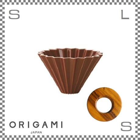 ORIGAMI オリガミ ドリッパーセット ドリッパー Sサイズ ブラウン 1~2杯用&専用ドリッパーホルダー
