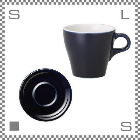 ORIGAMI オリガミ カプチーノカップ&ソーサー ネイビー 6oz 180cc コーヒーカップ&ソーサー バリスタが設計 日本製