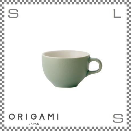 ORIGAMI オリガミ ラテボウル マットグリーン 6oz Φ90/W113/H60mm 180cc コーヒーカップ バリスタが設計 日本製