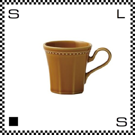 Coline コリーヌ コーヒーカップ アンバー イエロー  Φ82/W115/H81mm 200cc オクタゴン 八角形 クラシックデザイン 日本製