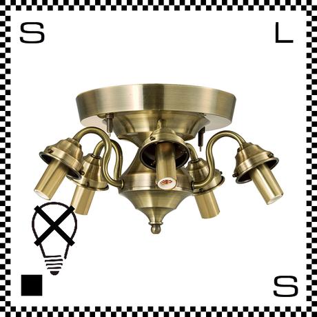 アートワークスタジオ 5灯シーリング リモートモデル ゴールド リモコン付 電球別売 Φ340/H200mm E17 シーリングベース AW-0429-GD (※)