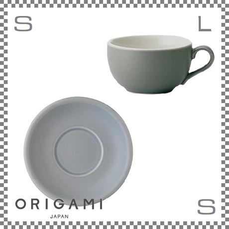 ORIGAMI オリガミ ラテボウル&ソーサー マットグレー 8oz 250cc コーヒーカップ&ソーサー バリスタが設計 日本製