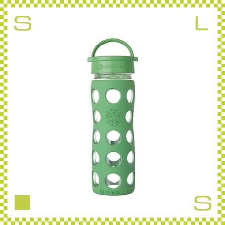 LIFEFACTORY ライフファクトリー グラスボトル クラシックキャップ 475 グラスグリーン 475ml 携帯ボトル ガラスボトル