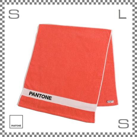 PANTONE パントン バスタオル リビングコーラル 120×50cm コットン製 今治タオル製 日本製