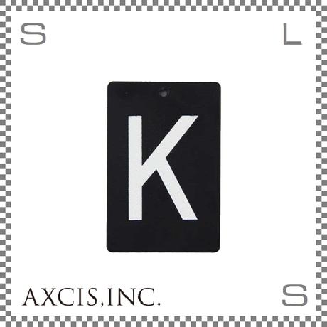 """AXCIS アクシス アイアンプレート """"K"""" W40/D2/H60mm アルファベットプレート スチール製 アイアンネームプレートホルダー用 hs2568"""