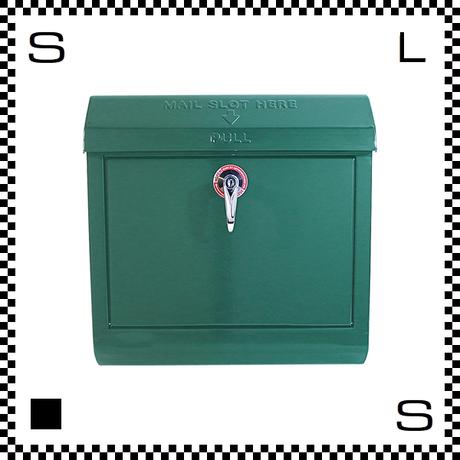 アートワークスタジオ メールボックス レバー開閉式 グリーン W385/D132/H400mm 壁付ポスト 鍵付き 郵便ポスト  TK-2076-GN