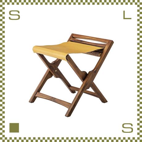 フォールディングスツール W42/D42/H45cm 折り畳み椅子 ウッドスツール azu-nw180
