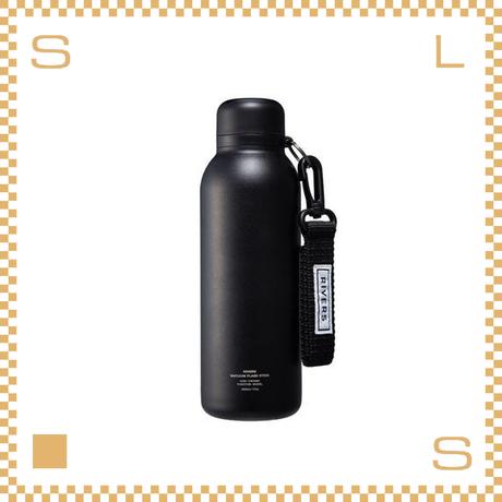 RIVERS リバーズ バキュームフラスク ステム BL ブラック W80/D70/H225mm 500ml 約200g 魔法瓶 ストラップ付
