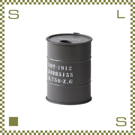 ドラム缶トラッシュカン グレー Φ23/H31cm ゴミ箱 ごみ箱 azu-lfs440gy