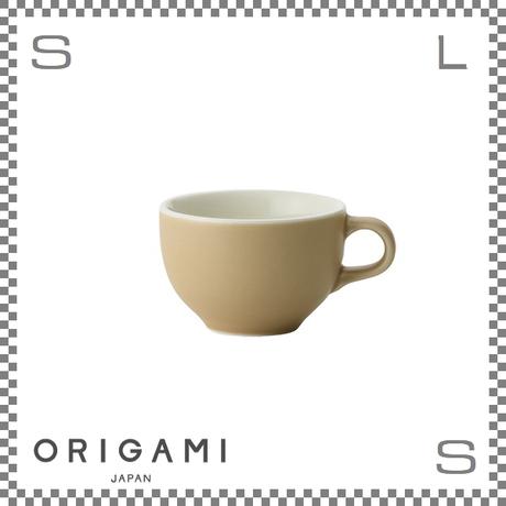 ORIGAMI オリガミ ラテボウル マットベージュ 6oz Φ90/W113/H60mm 180cc コーヒーカップ バリスタが設計 日本製