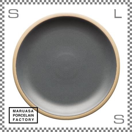 丸朝製陶所 %PORCELAINS ポーセリンズ プレート Lサイズ マットグレー Φ244/H26mm 日本製