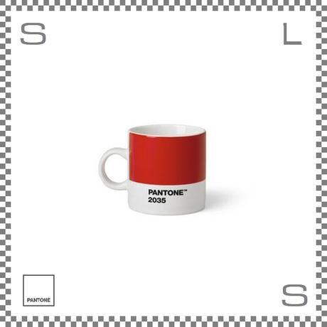 PANTONE パントン エスプレッソカップ レッド 120ml Φ62/W86/H61.5mm デミタスカップ