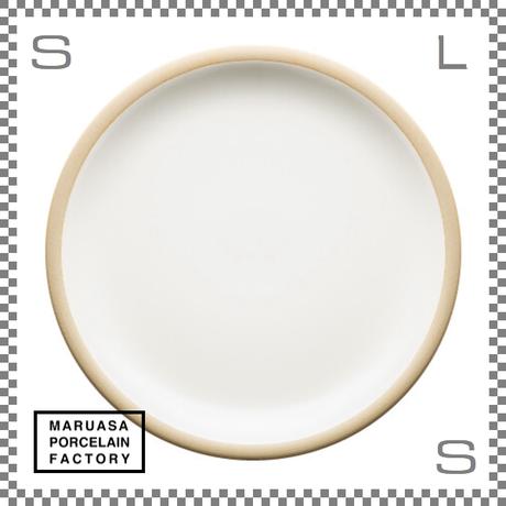 丸朝製陶所 %PORCELAINS ポーセリンズ プレート Lサイズ マットホワイト Φ244/H26mm 日本製