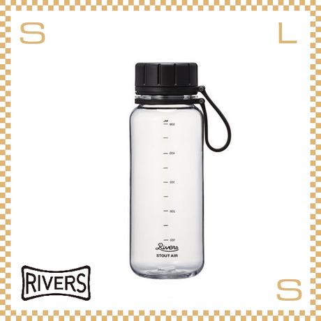 RIVERS リバーズ スタウトエア 550 クリア 550ml W100/D71/H204mm ウォーターボトル スプラッシュガード付 トライタン使用
