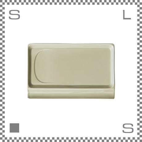 aiyu アイユー 重宝皿ロング ベージュ W23.6/D15.7/H1.2cm スクエアプレート 万能皿 箸置きスペースあり 波佐見焼 日本製