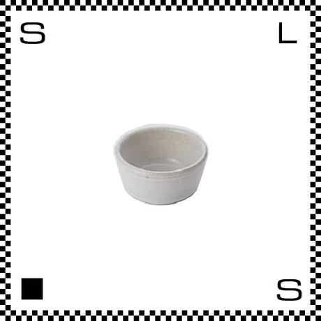 笠間焼 鈴木まるみ アイスクリームカップ 糠白 Φ7.8/H4.5cm(高台径:5.7cm) ハンドメイド 小鉢 ミニボウル 日本製