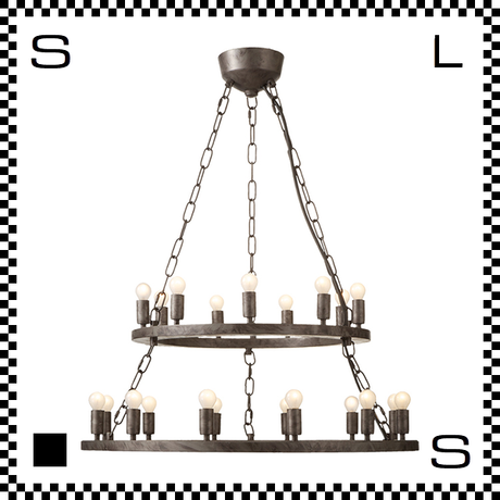 アートワークスタジオ Elements21 電球付 アンティークシャンデリア 2段 21灯 Φ685/230mm 上向きシャンデリア クラシック レトロ AW-0382V