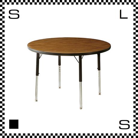 ヴァルコ ラウンドテーブル Sサイズ ウォルナット 直径915mm VIRCO社 高さ調節可能 ユニバーサルデザイン  TR-4274-WN