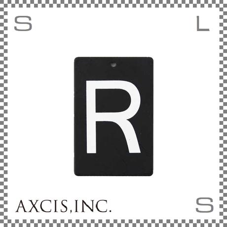 """AXCIS アクシス アイアンプレート """"R"""" W40/D2/H60mm アルファベットプレート スチール製 アイアンネームプレートホルダー用 hs2575"""