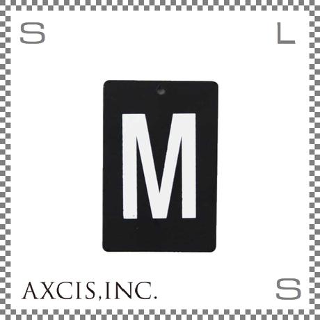 """AXCIS アクシス アイアンプレート """"M"""" W40/D2/H60mm アルファベットプレート スチール製 アイアンネームプレートホルダー用 hs2570"""