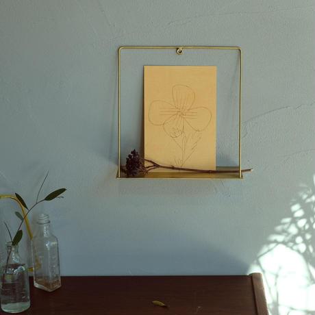 PIKE wall brass shelf